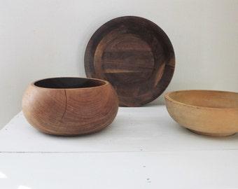 3 Wooden Bowl Set