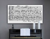 Anniversary Gift, 11th Anniversary Gift, Sheet Music Wall Art, Framed Song Lyrics, 1st Anniversary Gift