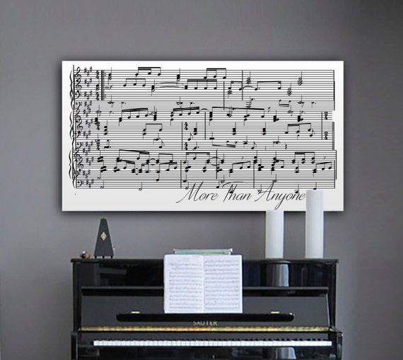 Wall Decorations Music : Sheet music wall art first dance on canvas