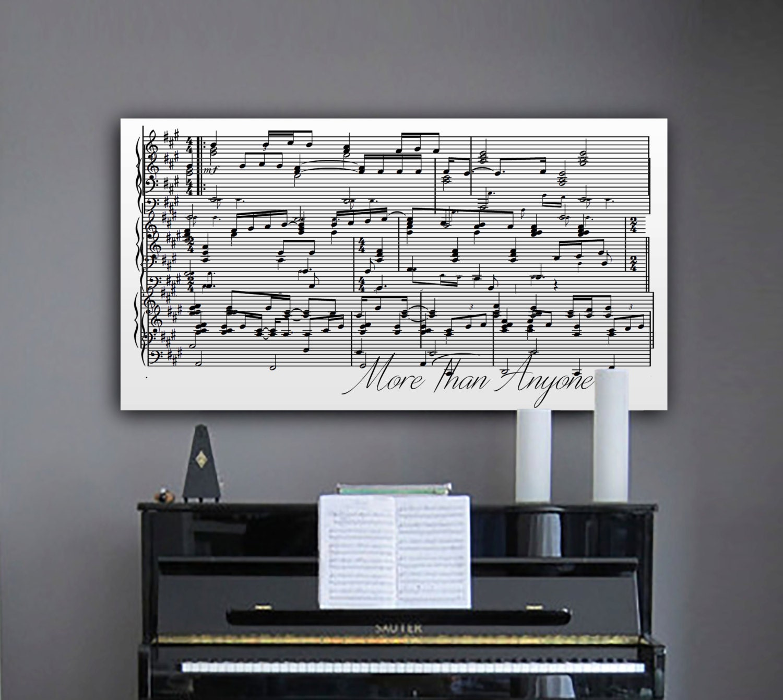 Piano Music Wall Decor : Anniversary gift th sheet music wall art