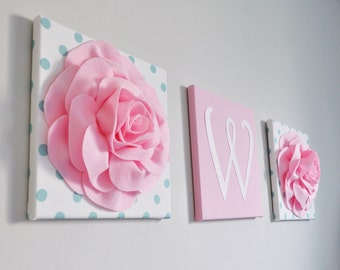 Initial Home Decor, Initial Wall Decor, Wall Hanging, Flocked Letters,  Monogram Wall