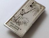 pitchfork money clip | vintage dictionary image | man using a pitchfork illustration | gift for farmer