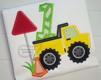 Construction number 1 Dump truck applique - A BMB EXCLUSIVE design!