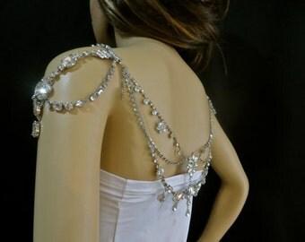 Modern Bridal Necklace, Modern Wedding Necklace, Modern Bridal Jewelry, Modern Wedding Jewelry, Statement Crystal Necklace