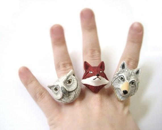 Clay Animal Rings