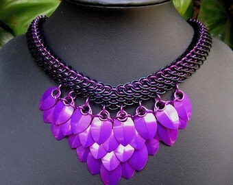 Dragonscale with Violet Dragon Scales