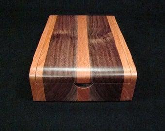 Cherry and Black Walnut Desk Box