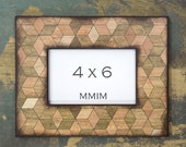 Geometric Wood Grain Picture Frame, Photo Frame, Photo Frames, Nature, Faux Wood Grain, Nursery, Wall hanging, room Decor, Rustic, Unique