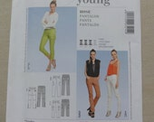 Woman's Pants, Skinny Jeans, Cropped Pants, Capri Pants, Stretch Fabric- UNCUT Burda Young Sewing Pattern 7214- Teen Misses' Sizes 6-18