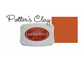 Memento Dye Full Size Water Based Ink Pad POTTER'S CLAY Potters Rust, Brown