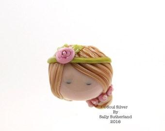 Doll Face Focal Bead