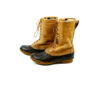 LL Bean Maine Hunting Shoe, Lace Up Duck Boots