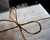 Tickled Pink Letterpress Shower Invitations
