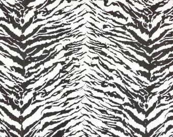 Tiger Print Cotton Twill/Bottom Weight