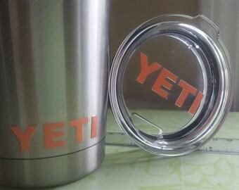 Yeti Tumbler and Lid Logo Decal Set