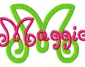 Maggie Font Machine Embroidery Design INSTANT DOWNLOAD BX