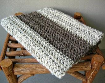 Chunky Crochet Blanket Stripe Throw