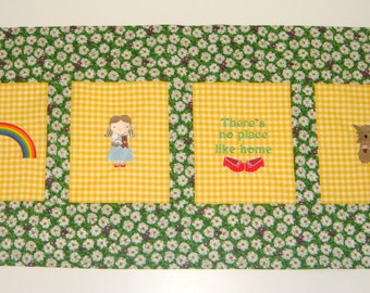 Embroidered Wizard of Oz Window Valance  - choose the fabrics - Payments accepted - any characters you see in my shop
