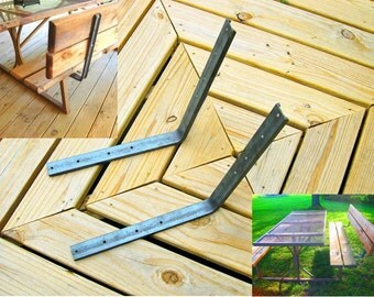 Add A Back Rest To A Seat. Make Benches with Backs, Chairs, Picnic Table Booths, Unfinished Set Of 2 with Mounting Holes.