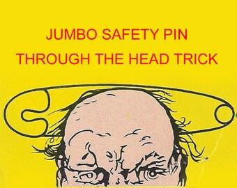 Jumbo Safety Pin Vintage Magic Trick Pinhead Halloween Costume