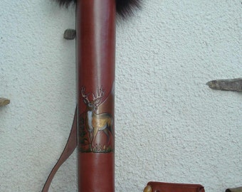 A Shoulder Strap Quiver And An Arm Guard