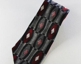 Vintage Modern Pattern Silk Necktie