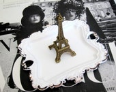 Eiffel Tower Ring Dish Eiffel Tower Trinket Dish Valentine's Day Gift Jewelry Dish  French Shabby Chic Decor Valentine Gift Vintage Inspired