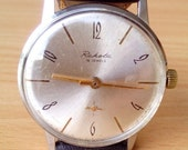 ON SALE Vintage watch Raketa, mechanical watch, men watch, mens watch, classic watch, grey watch