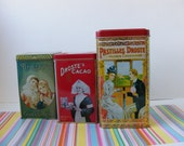 Vintage Dutch Droste's Cacao Cocoa Chocolate Pastilles Advertising Tins Instant Collection