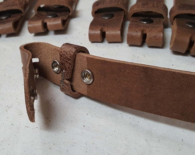 "Distressed Leather Snap Belts Oiled Buffalo Leather Belts for Suits or Jeans Custom Cut for Your Waist Size Leather Snap Belts 1.5"" or 1.25"""