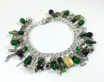 Slytherin House Charm Bracelet