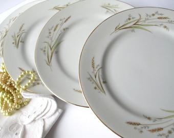 Vintage Golden Harvest Fine China Japan Salad Plates Set of Four