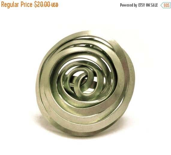 ON SALE Spiral Ring Wire Wrap Ring Boho Ring Bohemian Ring German Silver Ring Metalwork Ring Wire Wrapping Ring for Women Gift for Her Wire