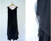 1930s black velvet speakeasy dress // clothing art // seamstress // designer pattern