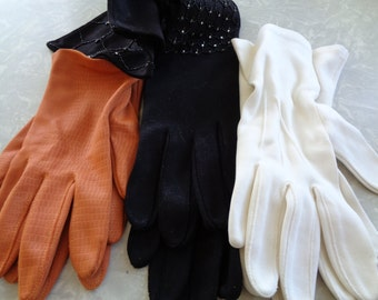 3  different pair of Vintage woman's gloves