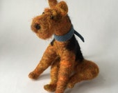 Needle Felted Rust and Black Terrier, Airedale or Welsh Terrier