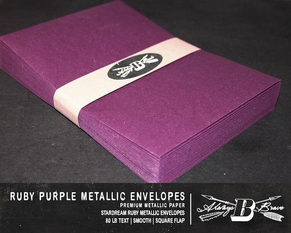 25 purple metallic a7 envelopes plum envelope 5 1 4 x 7