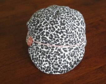 Baby Cycling Cap Baby Girl Cycling Cap Baby Girl Cap Leopard Print Baby Hat