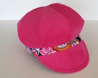 Baby Girl Hat Baby Girl Cap Baby Girl Newsboy Pink Baby Hat