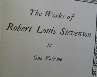 Works of ROBERT LOUIS STEVENSON, 1944