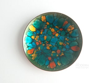 Win Ng Jeweled Kaleidoscope Enamel Plate San Francisco