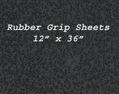 Rubber Grip Non Slip Black 12 by 36 inches, Rubber Soling Sheet Waterproof sole