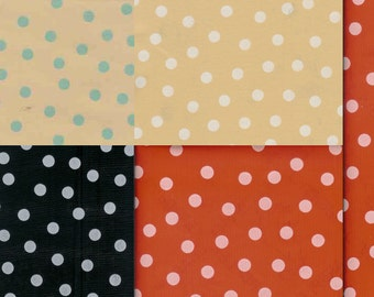 Colorful Polka Dots Oilcloth, Yardage