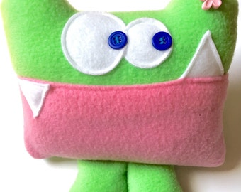 Tooth Fairy Pillow - Tooth Pillow - Tooth Fairy - Tooth Fairy Visit - Lost Tooth Pillow - Tooth Chart - Lost Tooth Chart - Soft Monster Toy