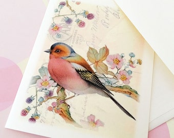 Bird Card, Stationery, Note cards,Set of 6