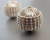 ON SALE Bali Sterling Silver Round Bead Dots 13mm