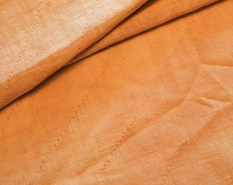 Antique Primitive Feedsack Fabric -Hand Dyed Madder Brown - Off 1890's Quilt - Huge at 39 x 33