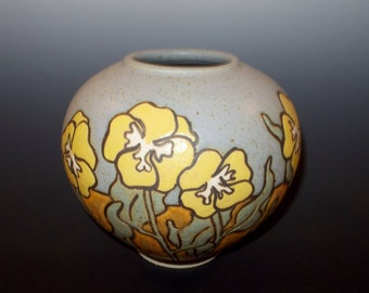 Yellow Pansy Vase