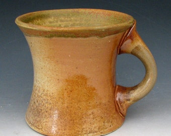 STONEWARE MUG #14 - Wood-Fired Mug - Ash Glazed Mug - Coffee Mug - Wood-Fired Stoneware - Pottery Mug