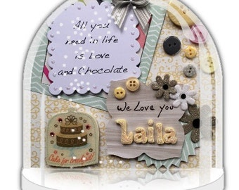 Personalised made to order with name and chocolate theme